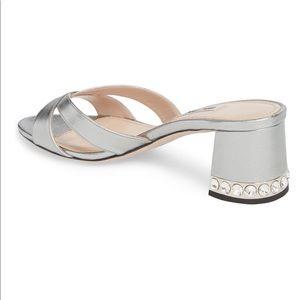 Miu Miu Crystal embellished sandals shoes